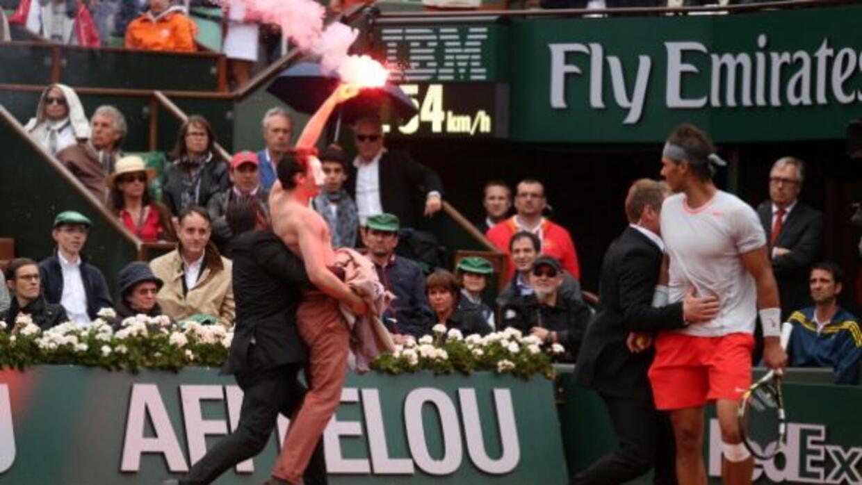 El más grave de los incidentes se produjo durante el segundo set.