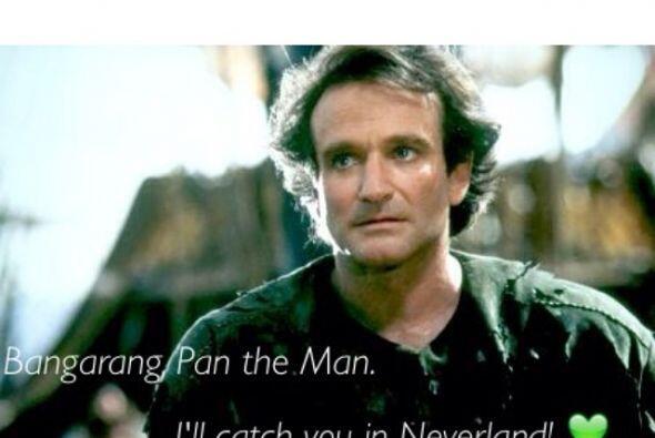 Otro mensaje emotivo de un fan de Robin Williams fue con la imagen de un...