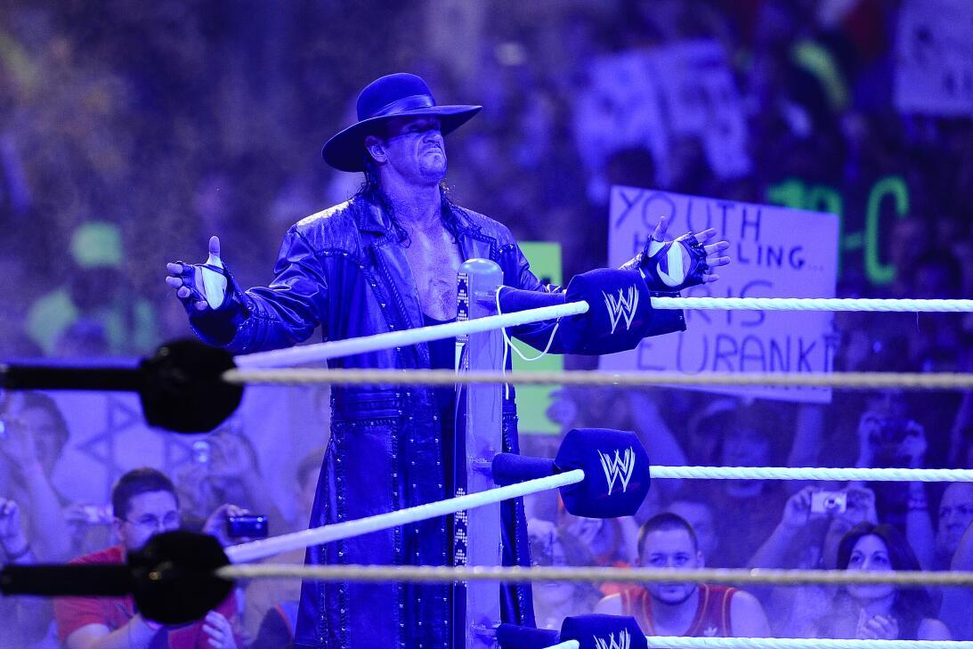 Ronda Rousey y Undertaker: íconos del Wrestlemania de WWE en 2018 ap-110...