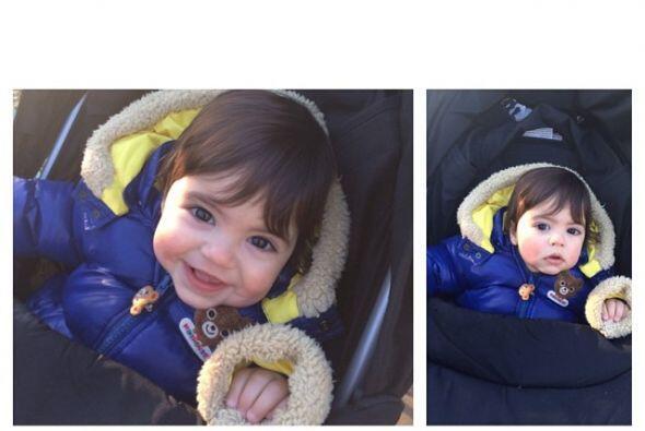 Ha llenado sus redes sociales de fotos del pequeño. Mira aquí lo último...