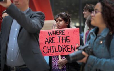 Protesta contra la separación de familias organizada por activist...