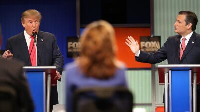 Primer round entre Cruz y Trump en el debate republicano trumpvscruz.jpg