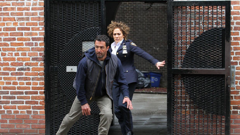 Jennifer López estuvo el miércoles en la Ciudad de Nueva York grabando e...
