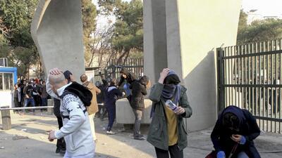 Las protestas en Teherán
