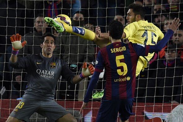 Pero un error de Piqué le costó el se segundo gol en contra al Barcelona...