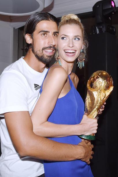 Sami Khedira y su pareja Lena Gercke.