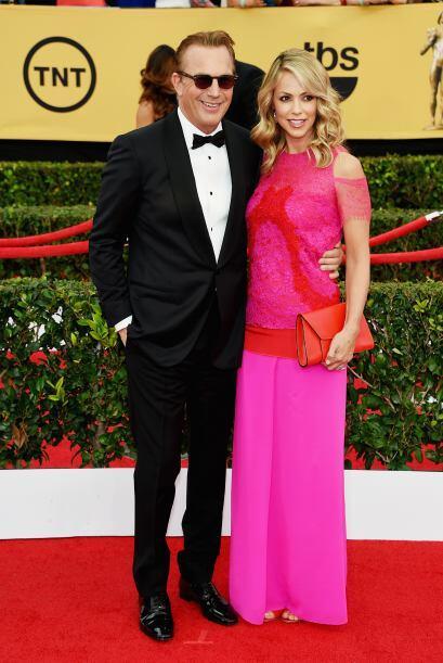 Kevin Costner y su esposa