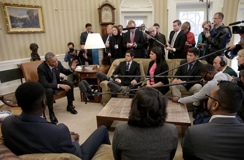 2015 | El presidente Barack Obama se reunió en febrero de 2015 con benef...