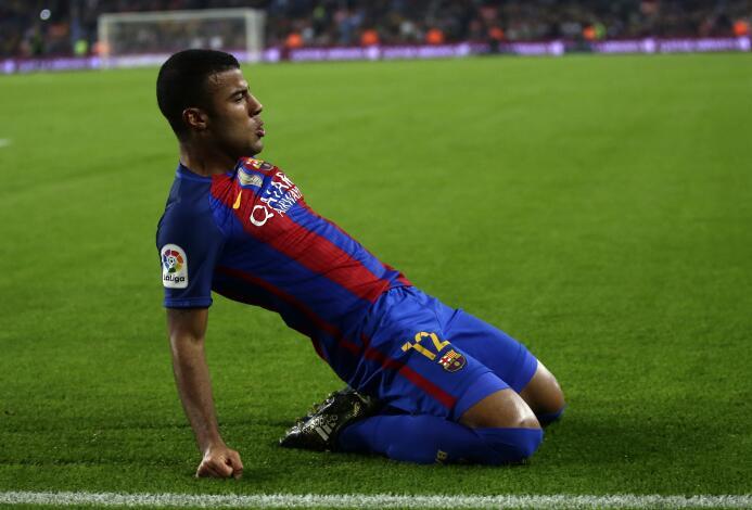 El brasileño Rafinha no ha participado como esperaba en el Barcelona en...