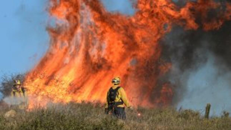 El incendio Springs, que consumió más de cuatro mil hectáreas en Califor...