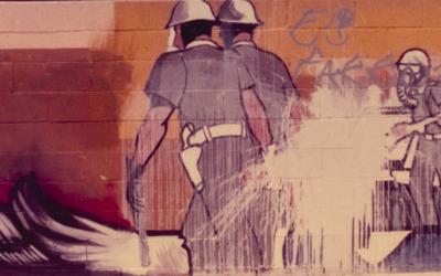 Un mural de Sergio O'Cadiz en Fountain Valley. Poco después de se...