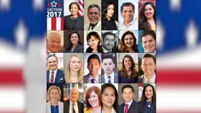 Los candidatos para la elección especial por el Distrito 34 en el Congreso.