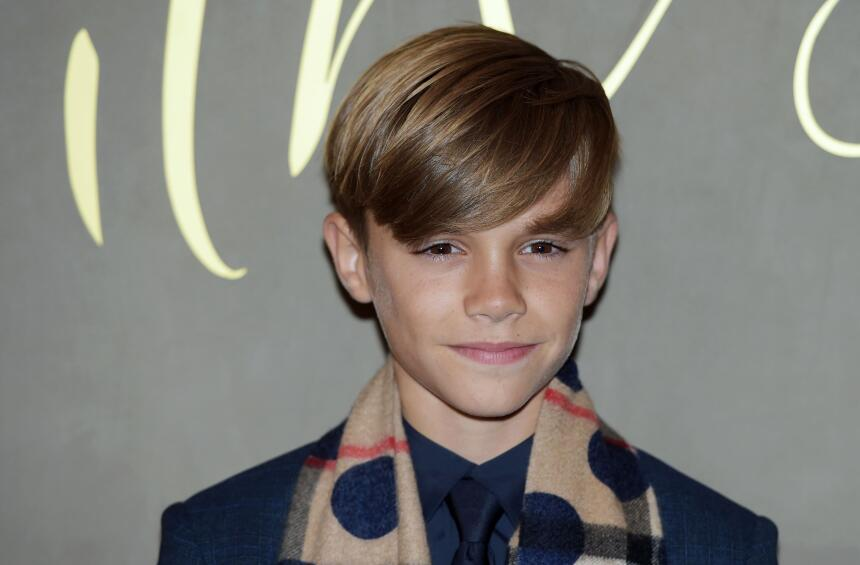 Romeo Beckham en el evento de Burberry