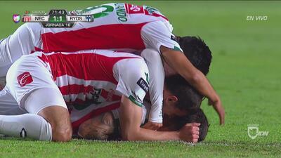 ¡Por fin! Luis Gallegos metió el empate para Necaxa