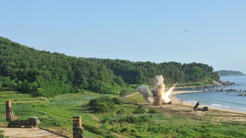 Imagen del ejercicio de lanzamiento de misil