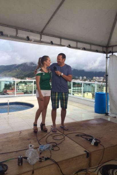 Aunque ella es venezolana, Eugenia estaba apoyando ese día al equipo de...