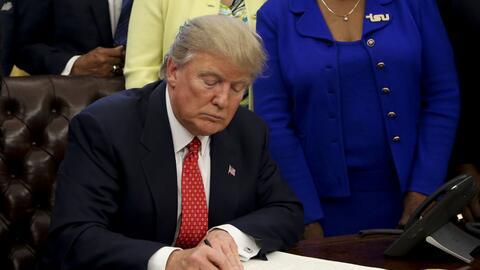 El presidente Trump firma una orden ejecutiva