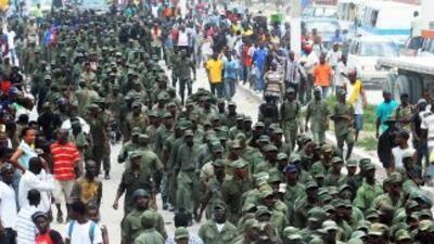 La Policía Nacional de Haití detuvo en Puerto Príncipe a entre 20 y 50 p...