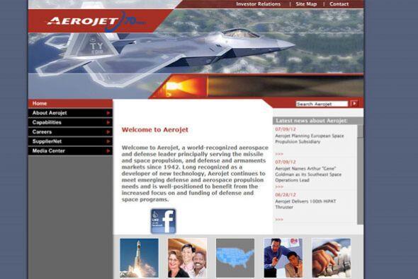 2. AEROJET   Sector de la industria: Espacio aéreo e ingeniería.  Ejempl...
