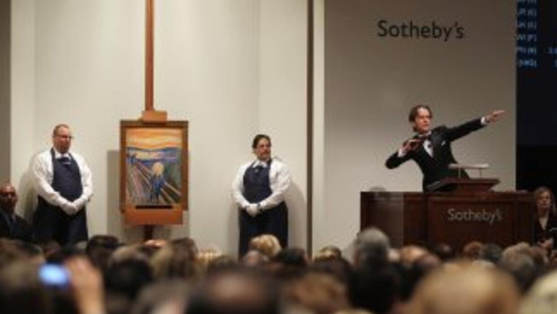 """Edvard Munch se llevó el récord el miércoles por la noche con """"El grito""""..."""