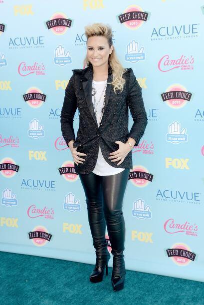 Un estilo súper 'rockero' fue el de Demi Lovato, quien no figuró entre l...