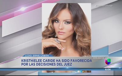 Kristhielee Caride un paso más cerca a recobrar su corona