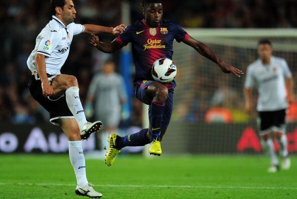 Aunque jugaba mejor el Barcelona, estaba lejos del juego fino que suele...