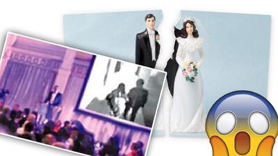 Novio pone al descubierto la infidelidad de su mujer durante la boda