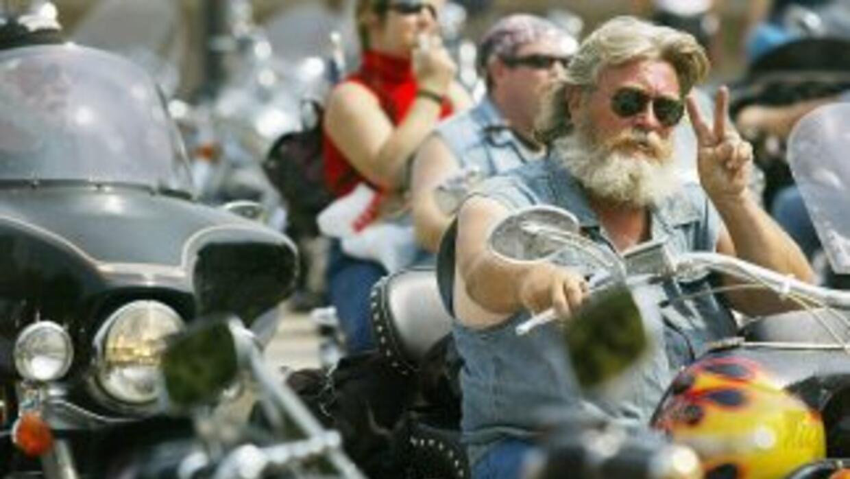 Motociclistas en Harley-Davidson.