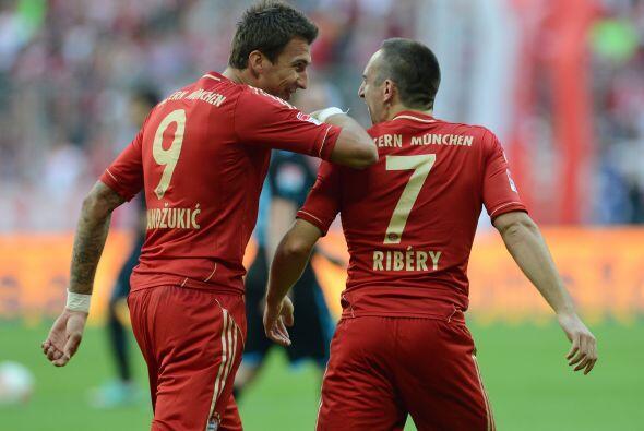 Ribéry fue el autor de los dos goles con los que los bávaros vencieron p...