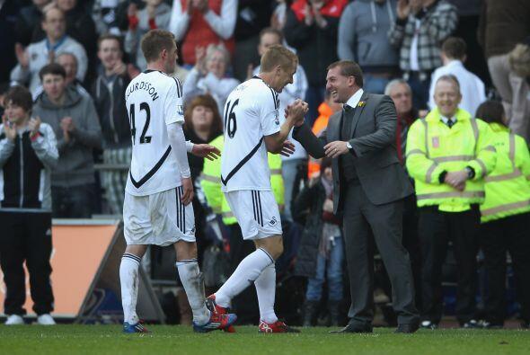 El entrenador del Swansea hizo algunos cambios para cuidar el resultado.