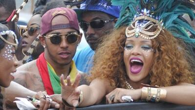 Lewis Hamilton  y Rihanna