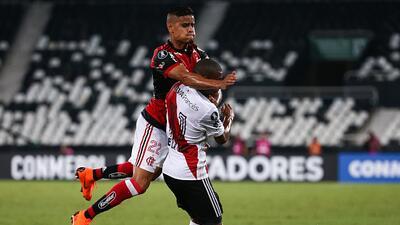 Nicolás de la Cruz de River Plate perdió un diente en juego de Copa Libertadores