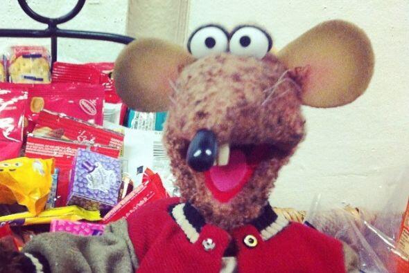 Incluso los ratones están listos para ver su actuación en el filme.