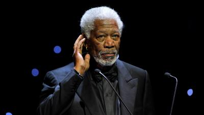 El actor Morgan Freeman en una ceremonia en Ginebra, Suiza.
