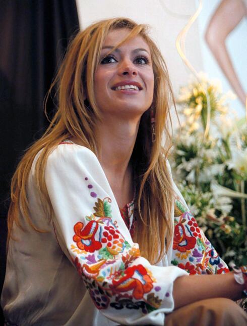 Paulina Rubio durante la presentación su disco Border Girl el 25 de abri...