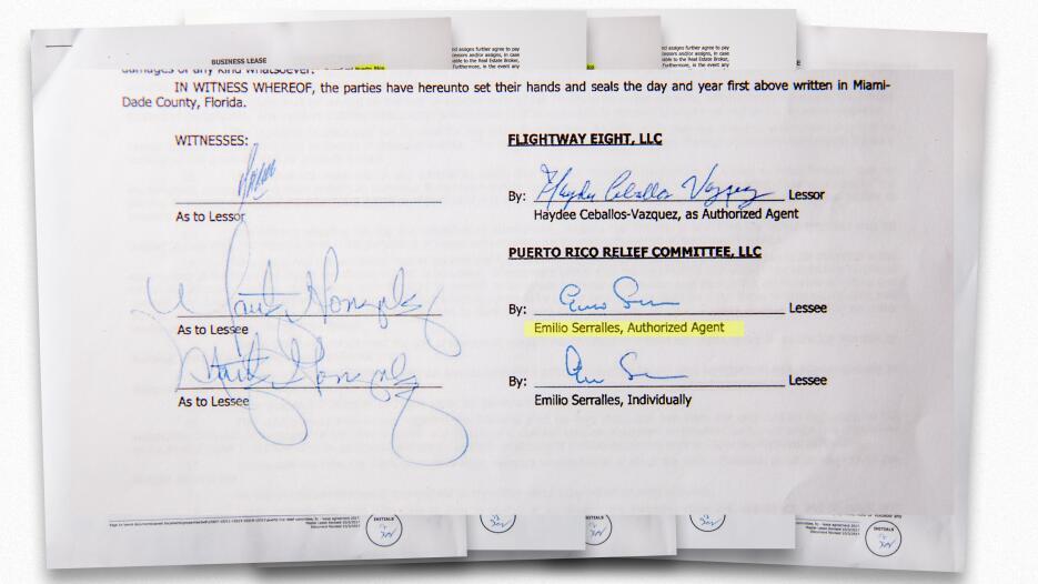 El documento fue firmado el 3 de octubre de 2017 por 'Emilio Serrallés',...