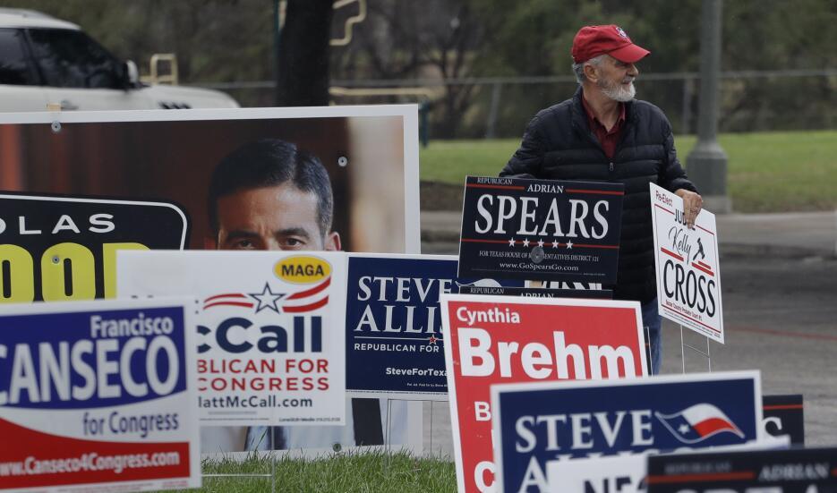 Texas celebra las primeras elecciones primarias del 2018 ap-180516656808...