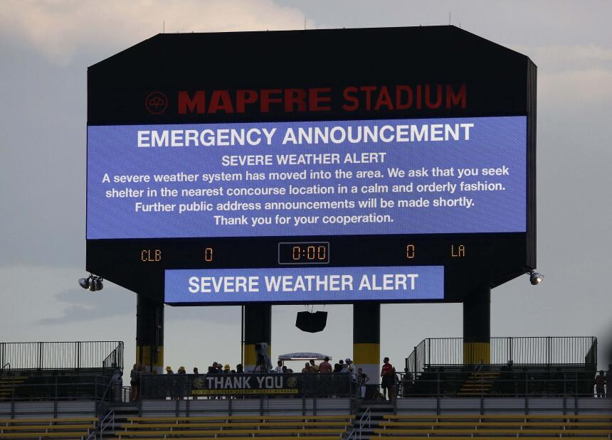 El partido entre Columbus Crew y LA Galaxy se restrasó por un espacio de...