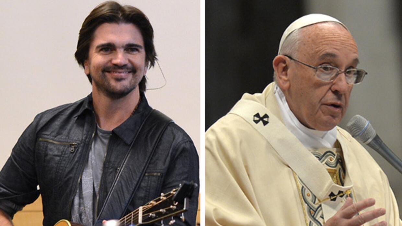 Juanes cantará ante el Papa Francisco