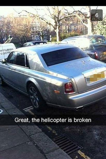 Se daño el helicoptero, pues nos tendremos que ir en el auto.