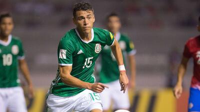 Moreno durante el encuentro del Tri ante Costa Rica.