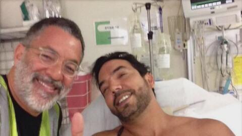 Herido de bala en el Ironman 70.3 de San Juan en 2015 y su rescatista.