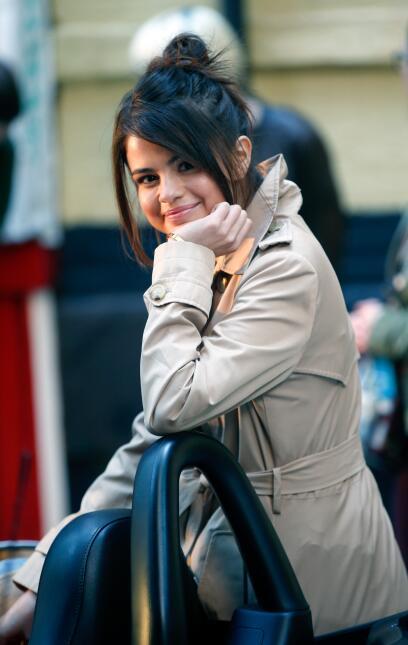 Al final, con esta sonrisa Selena Gomez dejó saber lo feliz que está con...
