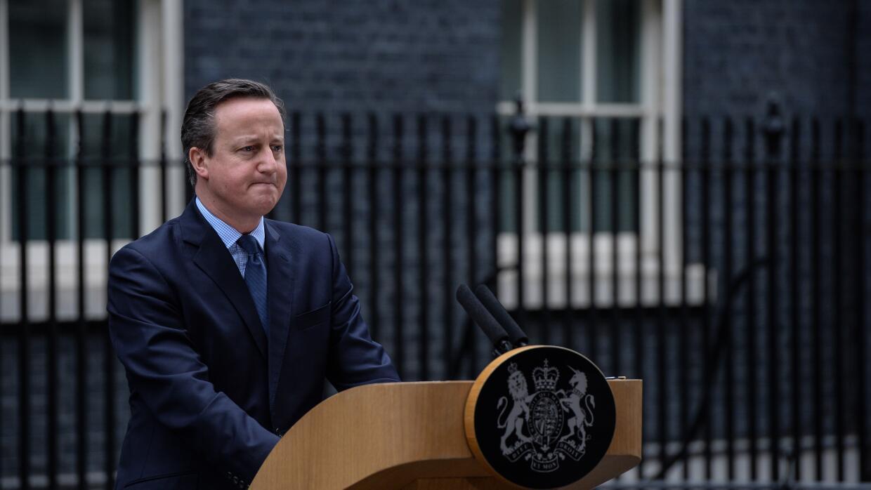 La alocución de Cameron ante el número 10 de Downing Street.