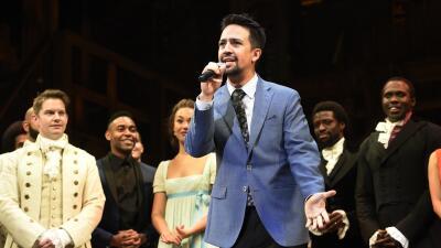 Lin-Manuel Miranda en la apertura del musical 'Hamilton' en Holl...
