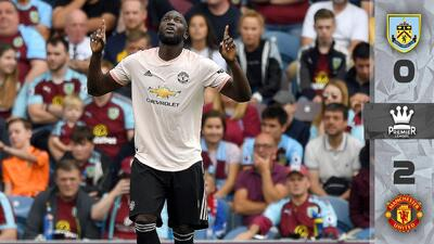 El United venció al Burnley: Romelu Lukaku marcó doblete y alivió a Mourinho