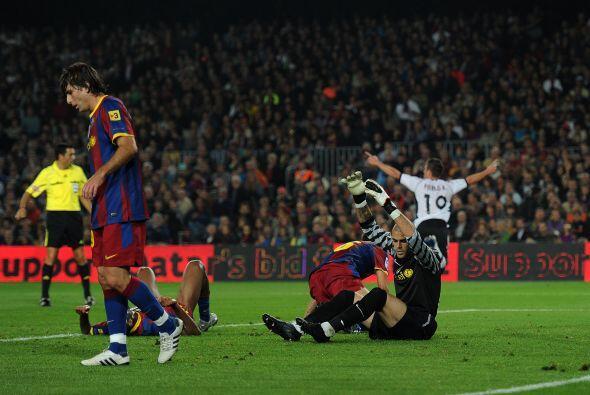 Pablo abrió el marcador y le daba el triunfo al Valencia.