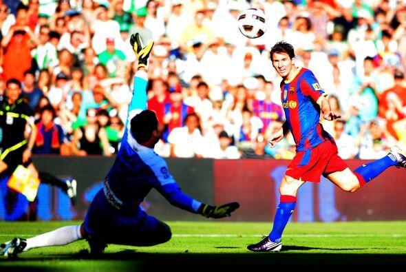 Apenas se cumplían los primeros tres minutos y el argentino Lionel Messi...