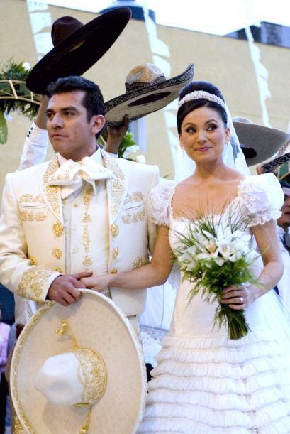 Hacían una hermosa pareja en la telenovela.